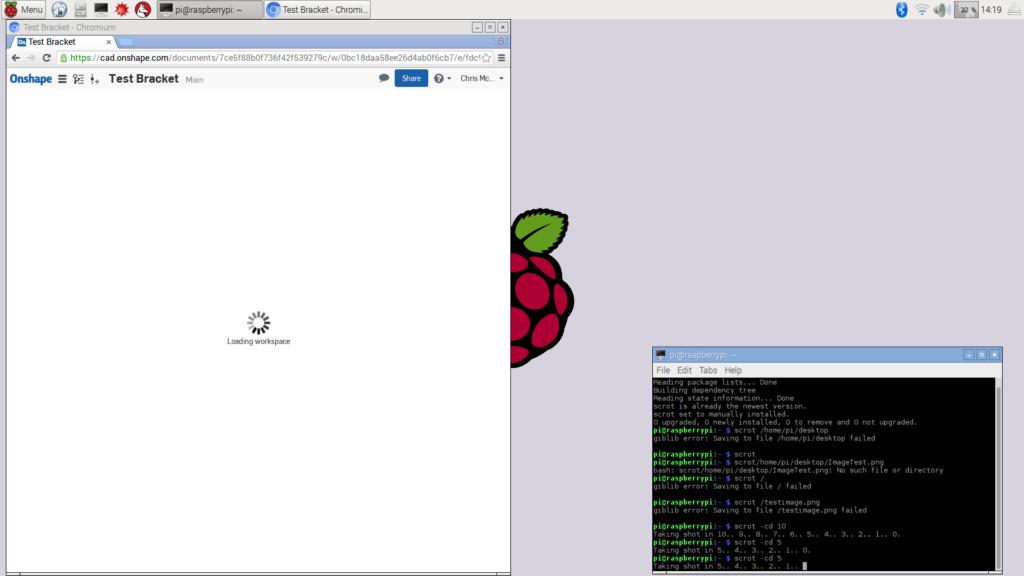 Raspberry Pi running Chromium hangs when opening file in Onshape