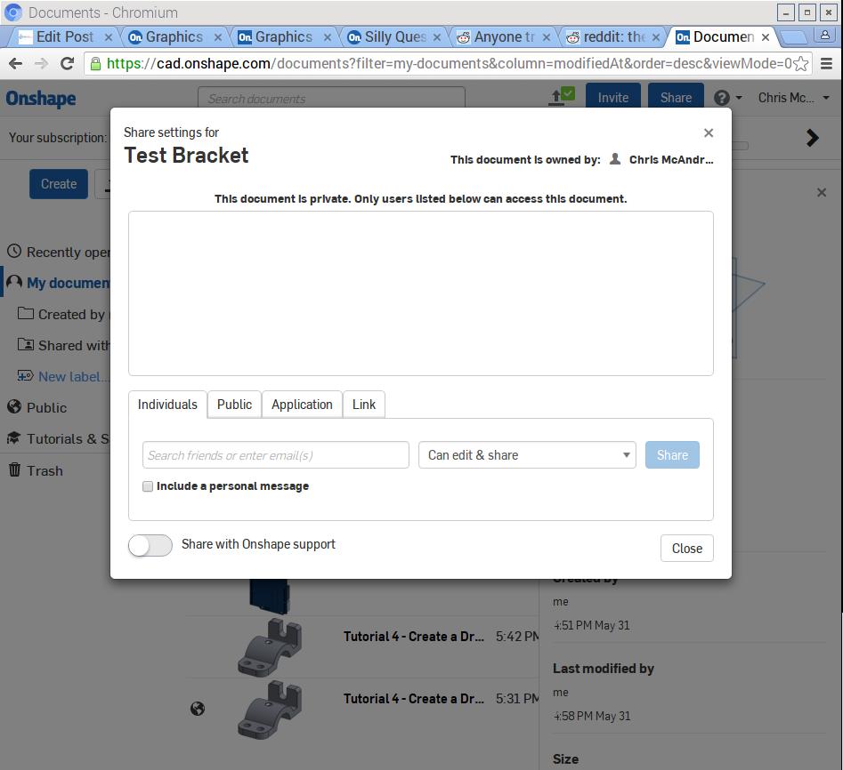 Editing file permissions for Onshape on Raspberry Pi Chormium