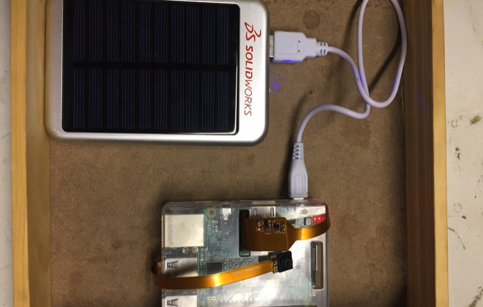 Solar Panel Powered Raspberry Pi