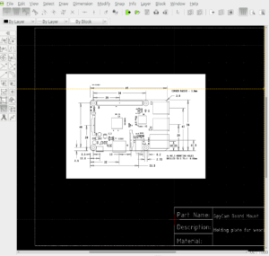 DWG File of Raspberry Pi on LibreCAD