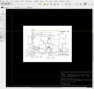 DWG File of Raspberry Pi on LibreCAD